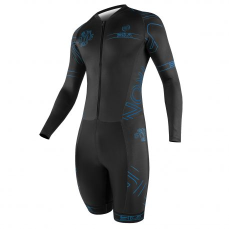 SKATING SUIT SILA IRON STYLE 2 Blue - Long sleeves