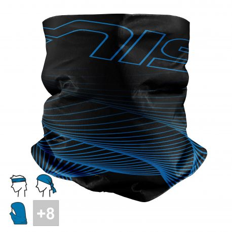 BANDANA NECK multifunction SILA - VORTEX Blue