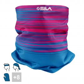 BANDANA NECK multifunction SILA - RACER Pink / Blue