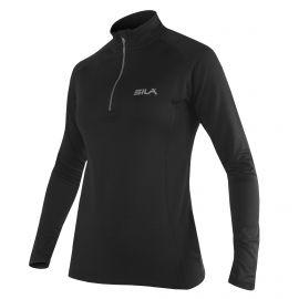 RUNNING WOMEN JERSEY SILA PRIME BLACK - Long sleeves