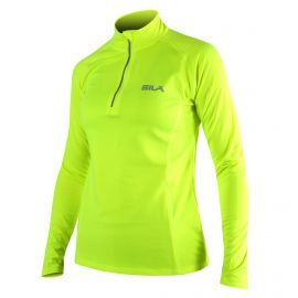 MAILLOT RUNNING FEMME - SILA PRIME JAUNE FLUO - Manches longues