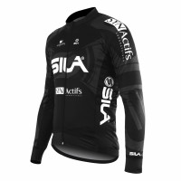 JERSEY/JACKET MID-SEASON PRO SILA TEAM BLACK-long sleeves