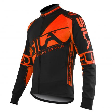 JERSEY/JACKET MID SEASON SILA FLUO STYLE 3 ORANGE -long sleeves