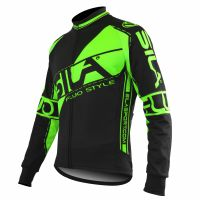 JERSEY/JACKET MID SEASON SILA FLUO STYLE 3 GREEN-long sleeves