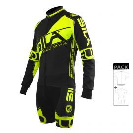 SKATING SUIT PACK - MID SEASON JACKET FLUO SILA STYLE 3 - YELLOW