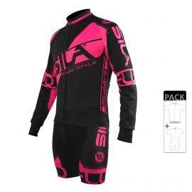 SKATING SUIT PACK - MID SEASON JACKET FLUO SILA STYLE 3 - PINK