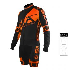 SKATING SUIT PACK - MID SEASON JACKET FLUO SILA STYLE 3 - ORANGE