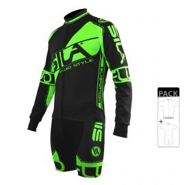 SKATING SUIT PACK - MID SEASON JACKET FLUO SILA STYLE 3 - GREEN