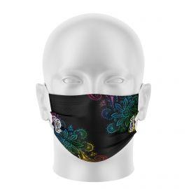 Masque de Protection SILA ALOHA NOIR - Réutilisable et lavable