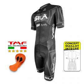 CYCLING SKINSUIT - SILA PRO R-GIRO BLACK - Ss