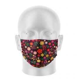 Masque de Protection SILA FLORAL - Réutilisable et lavable - Forme Plate