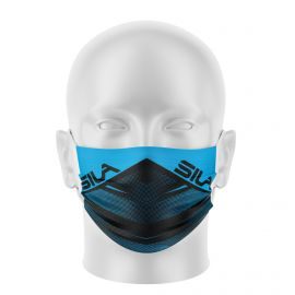 Masque de Protection SILA FUSION BLEU - Réutilisable et lavable - Forme Plate