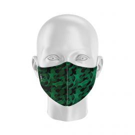 Masque de Protection SILA CAMO VERT - Réutilisable et lavable