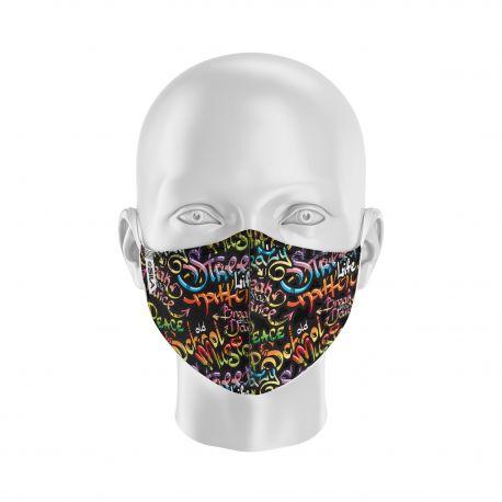 Masque de Protection SILA GRAFFITI - Réutilisable et lavable