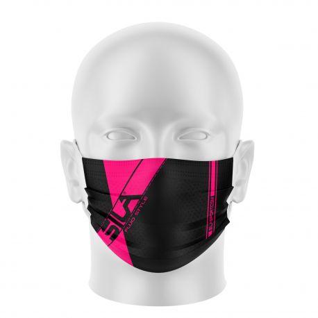 Masque de Protection SILA FLUO Style ROSE - Réutilisable et lavable