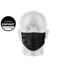 Masque de Protection SILA ORIGINE NOIR Enfants - Forme Plate - 3 couches - Réutilisable et lavable