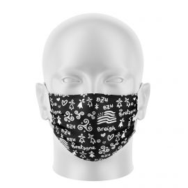 Masques de Protection BREIZH NOIR - Réutilisable et lavable