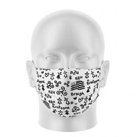 Masques de Protection BREIZH BLANC - Réutilisable et lavable