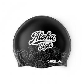SWIMMING CAP SILA ALOHA STYLE - BLACK