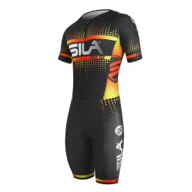 SKATING SUIT SILA PULSE STYLE Red Fire - Short sleeves