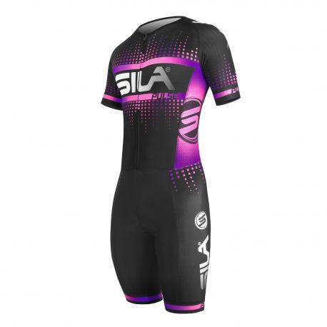 SKATING SUIT SILA PULSE STYLE Magic Purple - Short sleeves