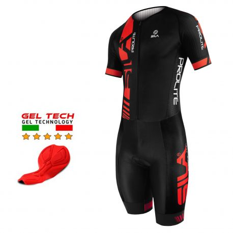 CYCLING SKINSUIT PROLITE SILA RED - SS