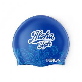 SWIMMING CAP SILA ALOHA STYLE - BLUE