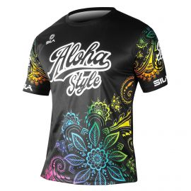 MAILLOT RUNNING HOMME ALOHA STYLE NOIR MULTICOLOR