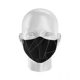 Masque de Protection SILA GLASS NOIR - Forme Ergo - 2 couches - Réutilisable et lavable