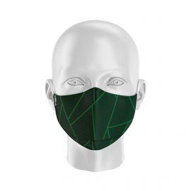 Masque de Protection SILA GLASS VERT - Forme Ergo - 2 couches - Réutilisable et lavable