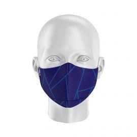 Masque de Protection SILA GLASS BLEU - Forme Ergo - 2 couches - Réutilisable et lavable