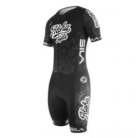 SKATING SUIT SILA ALOHA STYLE Black - Short sleeves