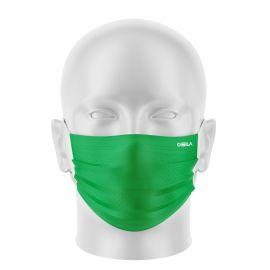 LOT Masques de Protection PRIME Vert - forme plate - 2 couches - Réutilisable et lavable