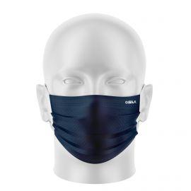 LOT Masques de Protection PRIME Bleu marine - forme plate - 2 couches - Réutilisable et lavable