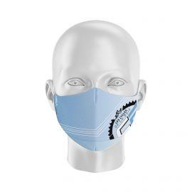 Masque Barrière LES CYCLES DE LA BAIE - Forme Ergo - 2 couches - Réutilisable et lavable