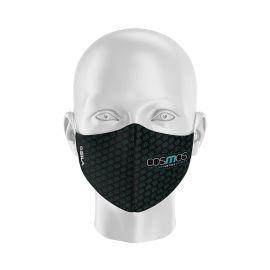 Masque Barrière COSMOS GE- Forme coquille - 2 couches - Réutilisable et lavable