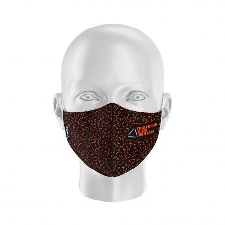 Masque Barrière TCN - Forme coquille - 2 couches - Réutilisable et lavable