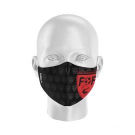 Masque Barrière FFNMG NIMES METROPOLE - Forme coquille - 2 couches - Réutilisable et lavable