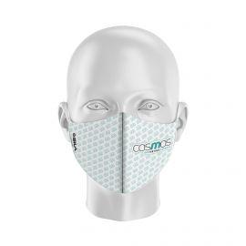 Masque Barrière COSMOS GE BLANC - Forme coquille - 2 couches - Réutilisable et lavable