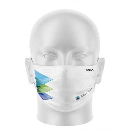 Masque Barrière GEOUEST - Forme coquille - 2 couches - Réutilisable et lavable