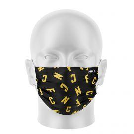 Masque Barrière FC NANTES - Forme plat - 2 couches - Réutilisable et lavable