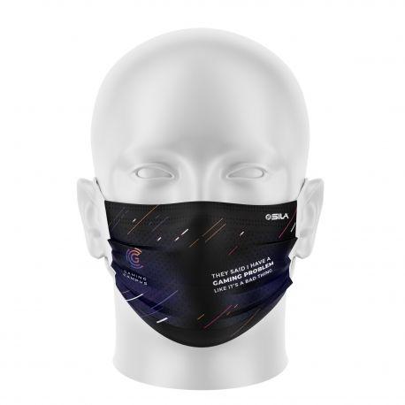 Masque Barrière FC VALENCIENNES - Forme plat - 2 couches - Réutilisable et lavable