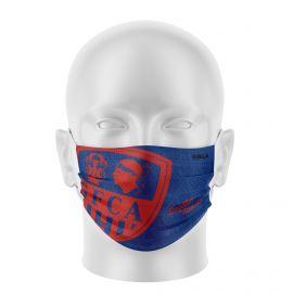 Masque Barrière GFCA FOOTBALL - Forme plat - 2 couches - Réutilisable et lavable