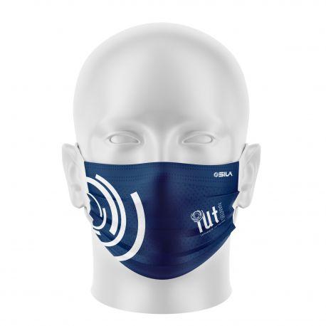 Masque Barrière IUT NANTES - Forme plat - 2 couches - Réutilisable et lavable