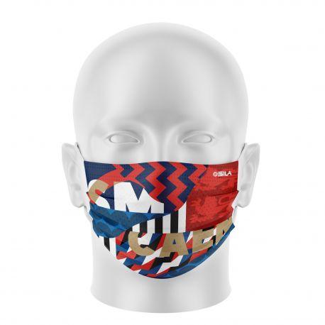 Masque Barrière SM CAEN - Forme plat - 2 couches - Réutilisable et lavable