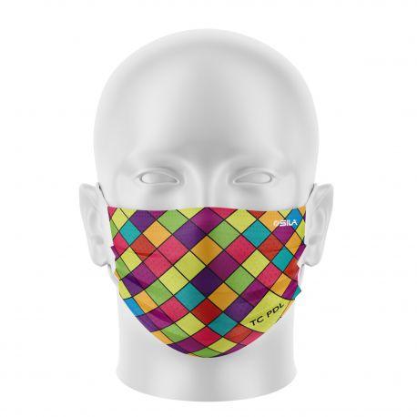 Masque Barrière SNCF TECHNICENTRE PDL - Forme plat - 2 couches - Réutilisable et lavable
