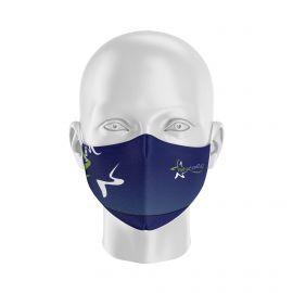 Masque Barrière REHACOOR42 - Forme Ergo - 2 couches - Réutilisable et lavable