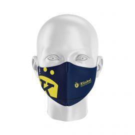 Masque Barrière BOUGUENAIS CLUB TRIATHLON - Forme Ergo - 2 couches - Réutilisable et lavable