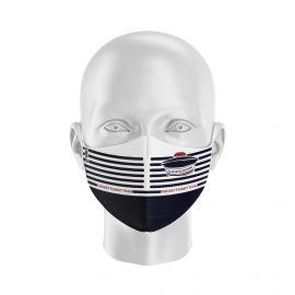 Masque Barrière LA MUSETTE BAULAISE - Forme Ergo - 2 couches - Réutilisable et lavable