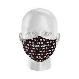 Masque Barrière LENNO - GEEKFEST - Forme Ergo - 2 couches - Réutilisable et lavable